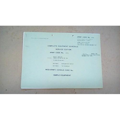 CES CATALOGUE FOR BRACKET MOUNTING RADIO STATION UK/PRC350